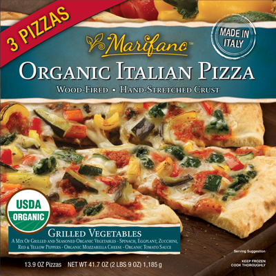 Marifano Organic Grilled Vegetable Pizza